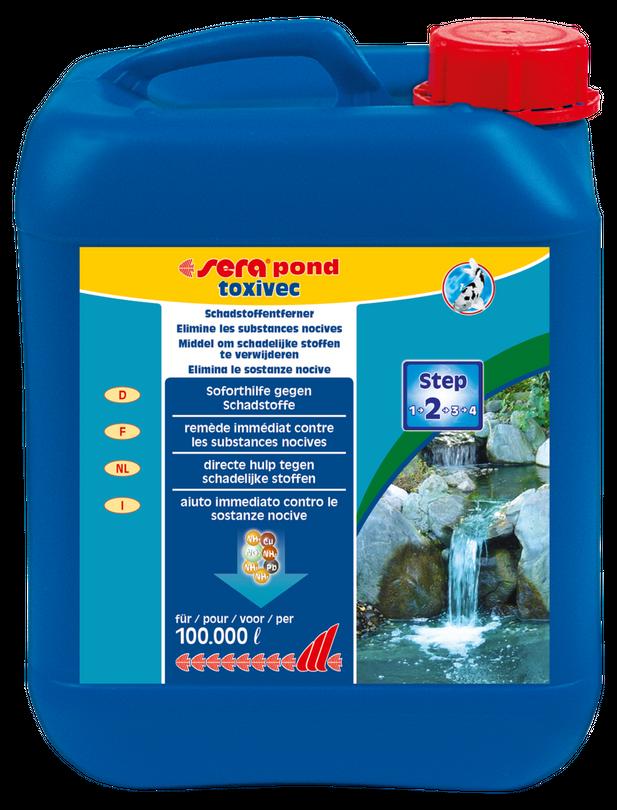 Sera pond toxivec 5 Liter Wasserwerte optimieren Gartenteich Pflegen