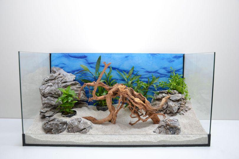 Aquarium Dekoration Komplettset - Moorkienwurzel Steine Wasserpflanzen Nr.5