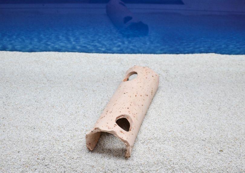 Amtra Baumrinde 20cm Größe L Tonschale Aquarium-Deko Welshöhle