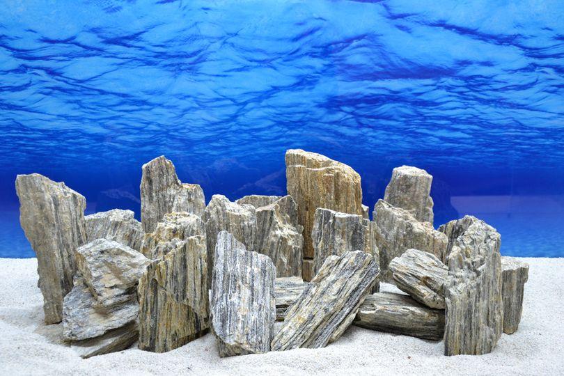 Pro Kiste Aquarium Deko Glimmer Wood Rock grau Glimmer Effekt 0,8-1,2 Kg Nr.46