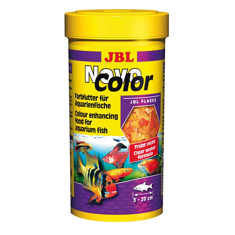 JBL NovoColor 250ml Flockenfutter Hauptfutter Aquarienfische