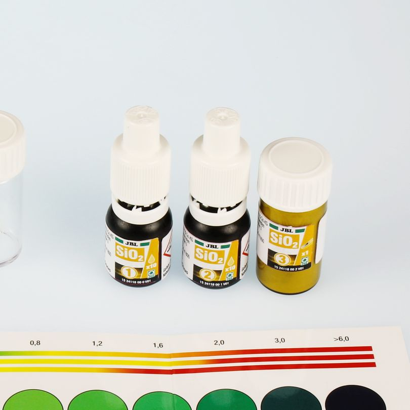 JBL SiO2 Silikat Test Schnelltest Silikatgehalt in Süß- & Meerwasser-Aquarien