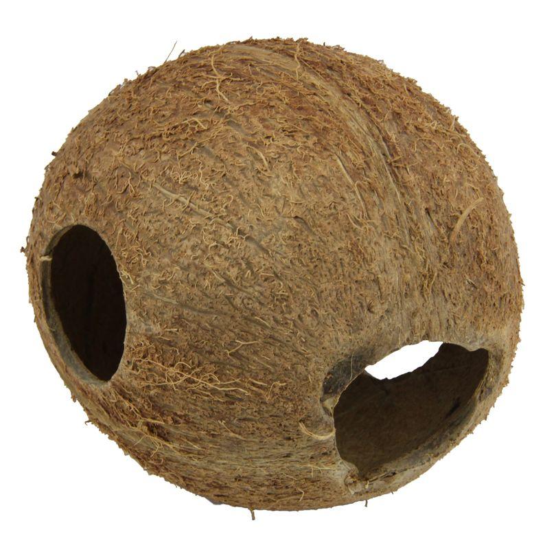 JBL Cocos Cava Größe M 1/1 Kokosnuss-Schale als Höhle für Aquarien und Terrarien
