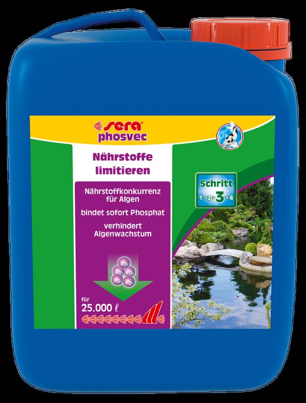 Sera pond phosvec 2,5 Liter Algenvernichter Gartenteich Pflegen