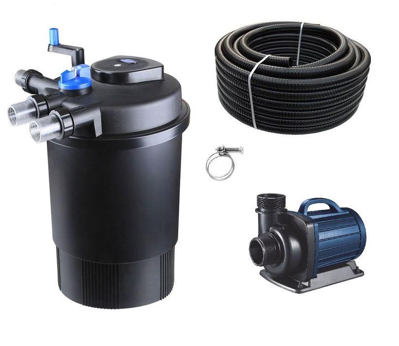 Schwimmteichfilter Set CPF 30000 12V Teichpumpe DM 10000 bis 60.000l Nr.65