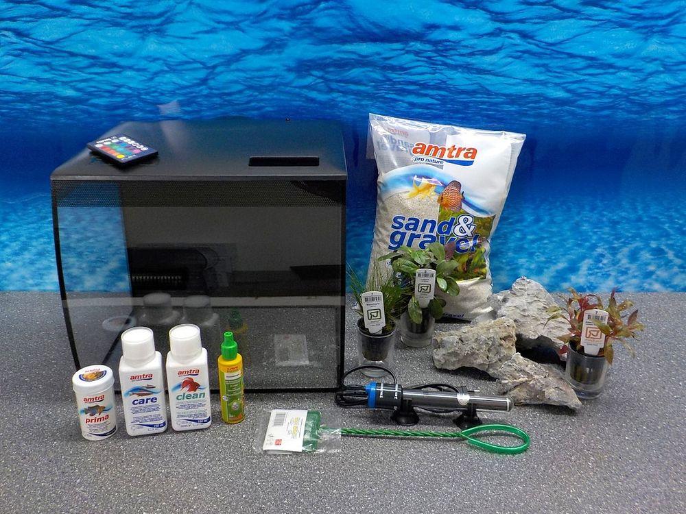 Fluval Flex 34 L Nano Aquarium Noir Complet Aquarium Incl ...