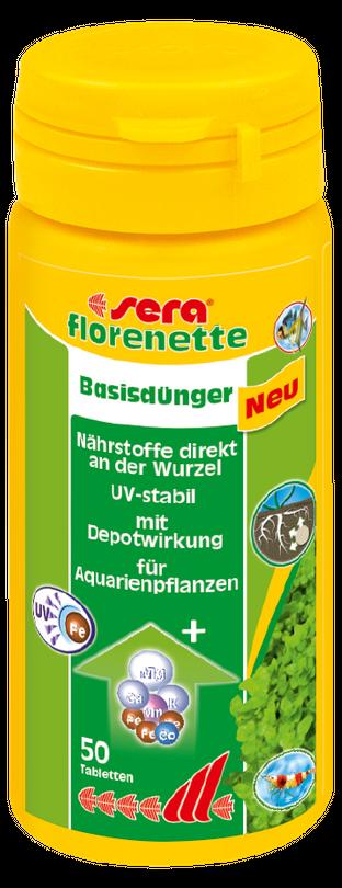 sera florenette 50 Tabletten Süßwasser Pflanzendünger Basisdünger