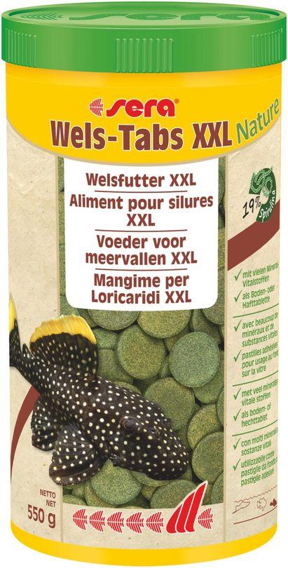 sera Wels-Tabs XXL Nature 1000ml Bodenfuttertabletten Futtertabletten Aquarium