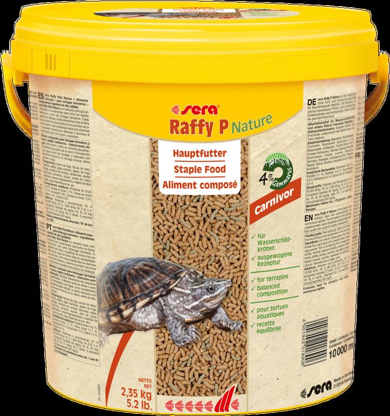 Sera Raffy P Hauptfutter für Wasserschildkröten 10 Liter Eimer Aquarium Futter