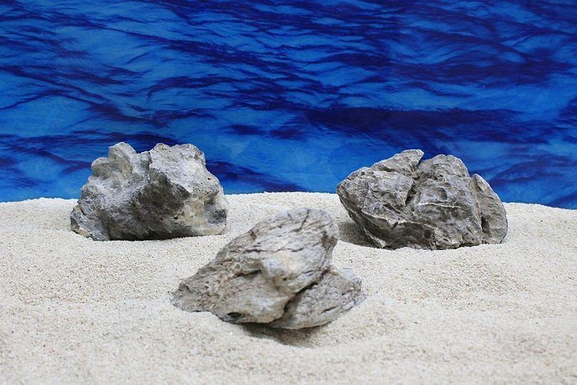 "Aquarium graue Dekosteine Seiryu Art.67 ""original Foto"" Größe M 12-18cm Nr.7570"