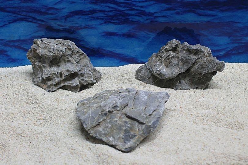 "Aquarium graue Dekosteine Seiryu Art.67 ""original Foto"" Größe M 12-18cm Nr.7574"