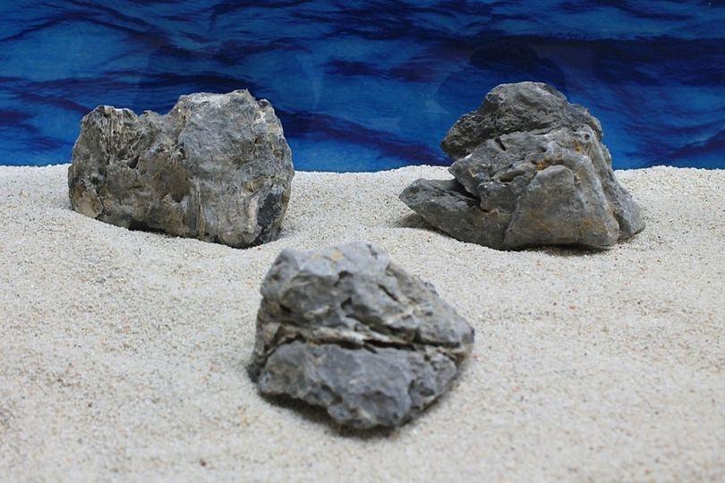 "Aquarium graue Dekosteine Seiryu Art.67 ""original Foto"" Größe M 12-18cm Nr.7575"