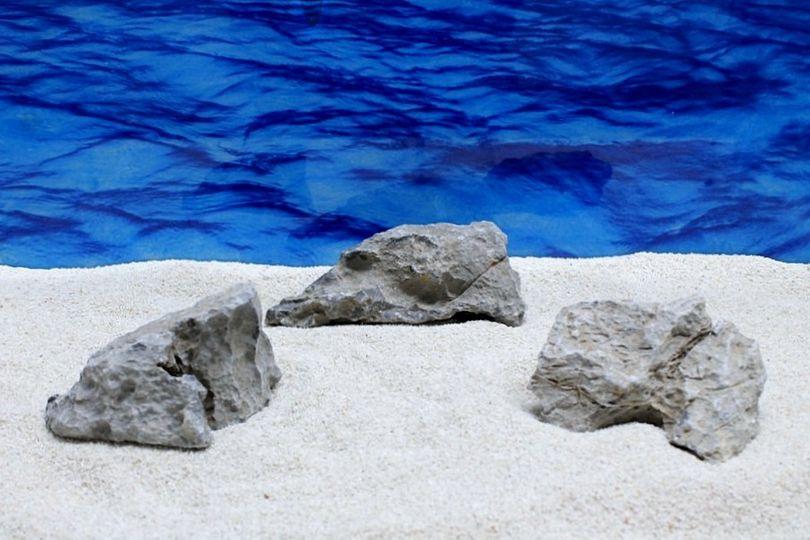 "Aquarium graue Dekosteine Seiryu Art.67 ""original Foto"" Größe M 12-18cm Nr.7577"