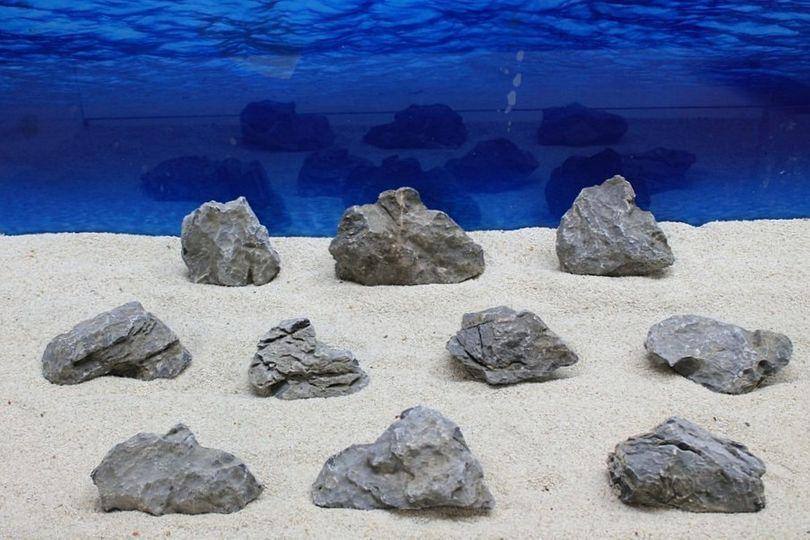 "Aquarium graue Dekosteine Seiryu Art.67 ""original Foto"" Größe M 12-18cm Nr.7603"