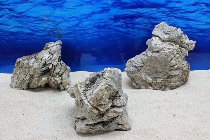 "Aquarium graue Dekosteine Seiryu Art.69 ""original Foto"" Größe XL 25-45cm Nr.7649"