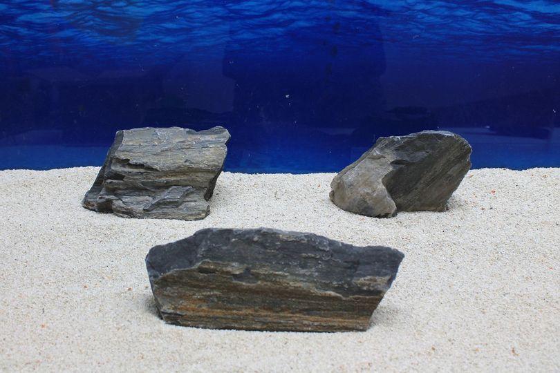 """Aquarium schwarze Dekosteine Art.65 """"original Foto"""" Größe M 12-20cm Nr.7712"""