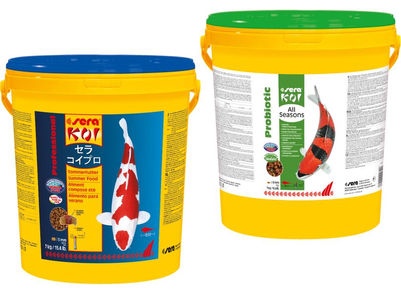 Futter Set Sera Prof. Koi Sommer + sera Koi All Seasons Probiotic je 21 Liter