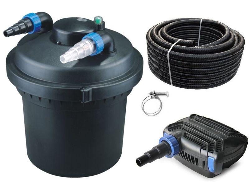 Druckteichfilter Set CPF 280 mit 40W Eco Pumpe 10m Schlauch bis 8.000l Nr.11