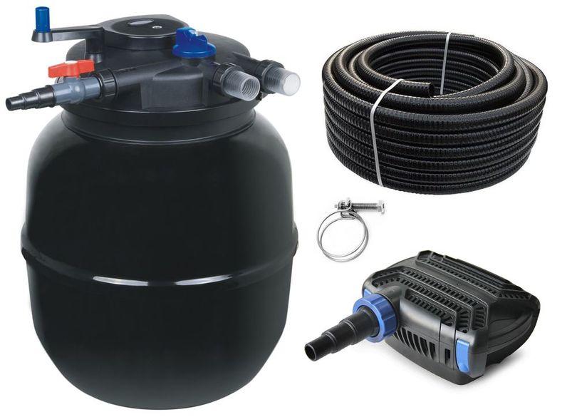 Druckteichfilter Set CPF 50000 mit 80W Eco Pumpe 10m Schlauch bis 80.000l Nr.26