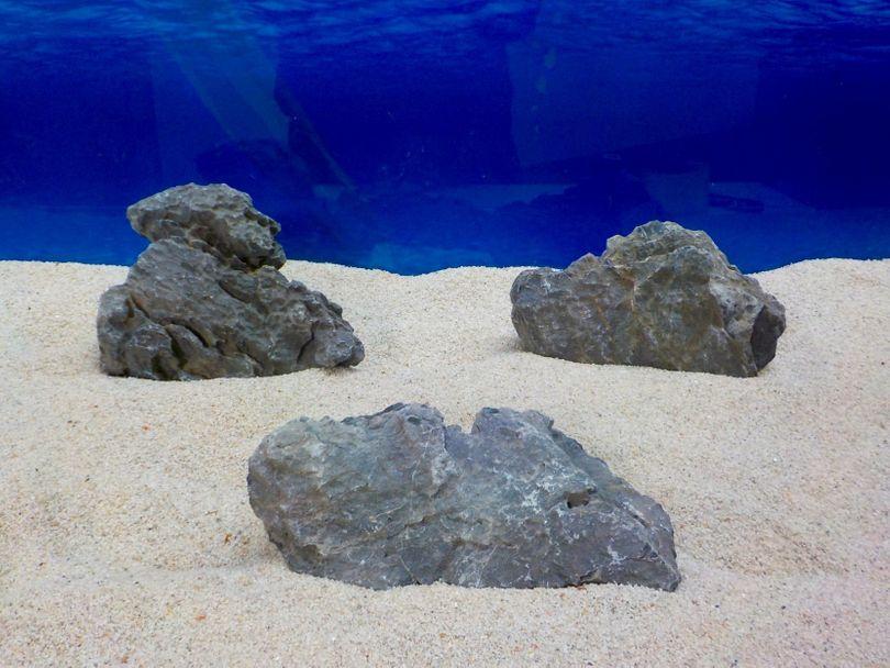 "Aquarium graue Dekosteine Seiryu Art.67 ""original Foto"" Größe M 12-18cm Nr.8234"