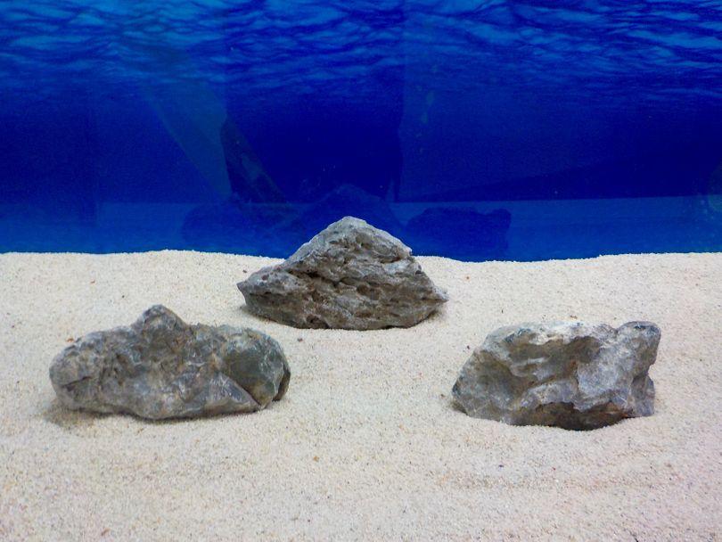 "Aquarium graue Dekosteine Seiryu Art.67 ""original Foto"" Größe M 12-18cm Nr.8250"