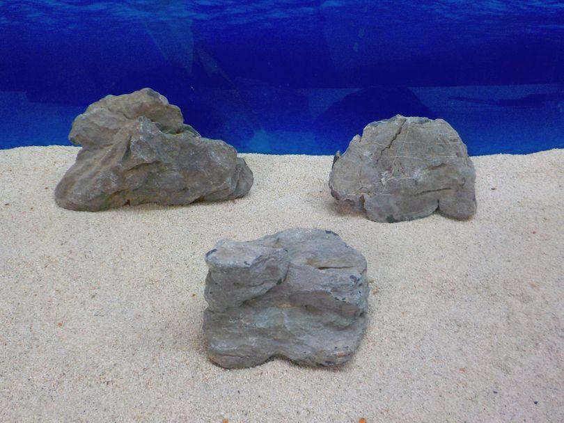 "Aquarium graue Dekosteine Seiryu Art.68 ""original Foto"" Größe L 12-35cm Nr.8271"