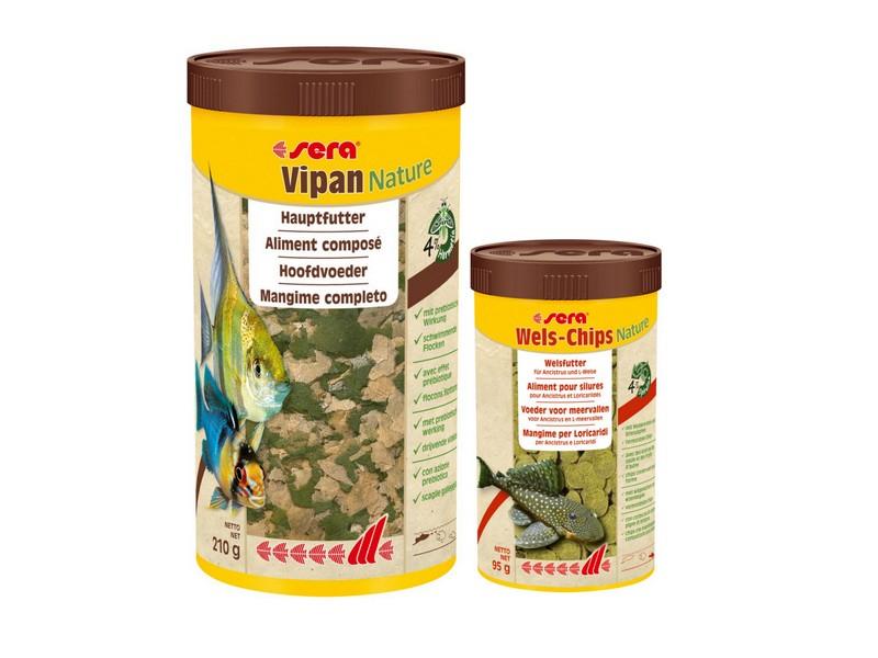 Sera Vipan Nature 1000ml + Wels Chips 250ml