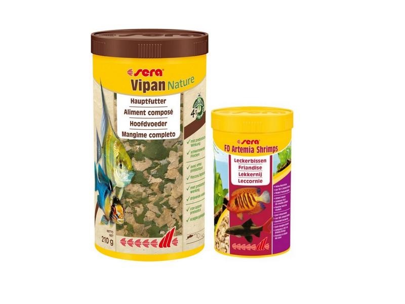Sera Vipan Nature 1000 ml + FD Artemia Shrimps 250 ml