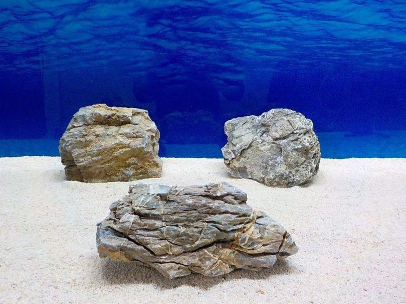 "Aquarium graue Dekosteine Seiryu Art.68 ""original Foto"" Größe L 12-35cm Nr.8579"