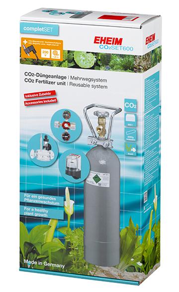 EHEIM CO2 Komplettset Mehrwegsystem für Aquarien bis 600 Liter +Nachtabschaltung