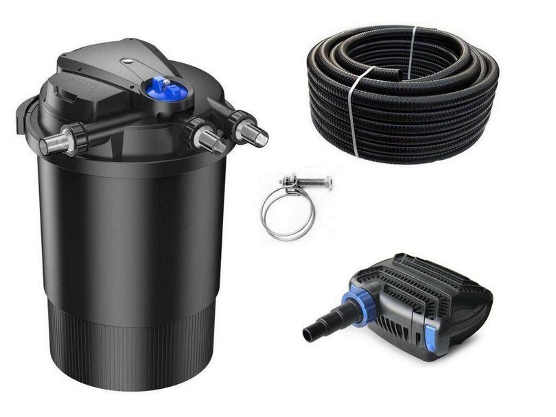 Druckteichfilter Set CPA 30000 mit 70W Eco Pumpe 10m Schlauch bis 60.000l Nr.46