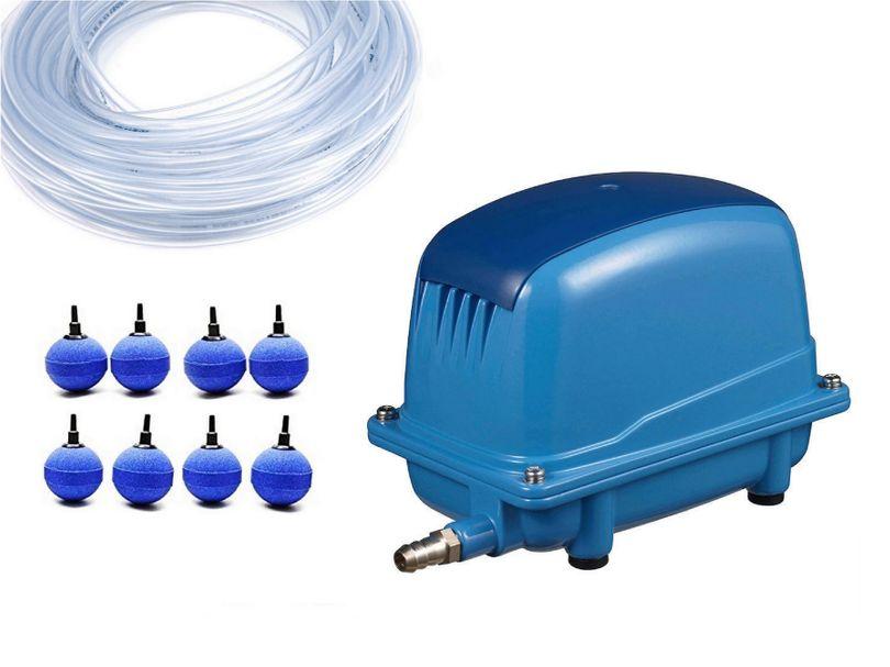 AquaForte AP-60 Luftpumpe 38 Watt Set 8 Luftausströmer Kugeln 2x25m Luftschlauch