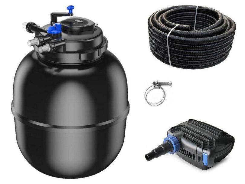 Druckteichfilter Set CPF 75000 mit 80W Eco Pumpe 10m Schlauch bis 100.000l Nr.28