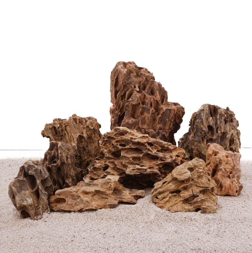 Aquarium Natursteine Drachensteine Set S1 Gr.M-XL 9 Steine
