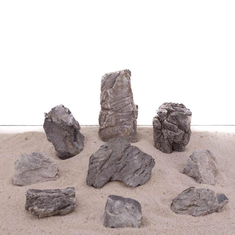Aquarium Natursteine Mini Landschaft Set Nr.1860 Gr.M-XL 9 Steine