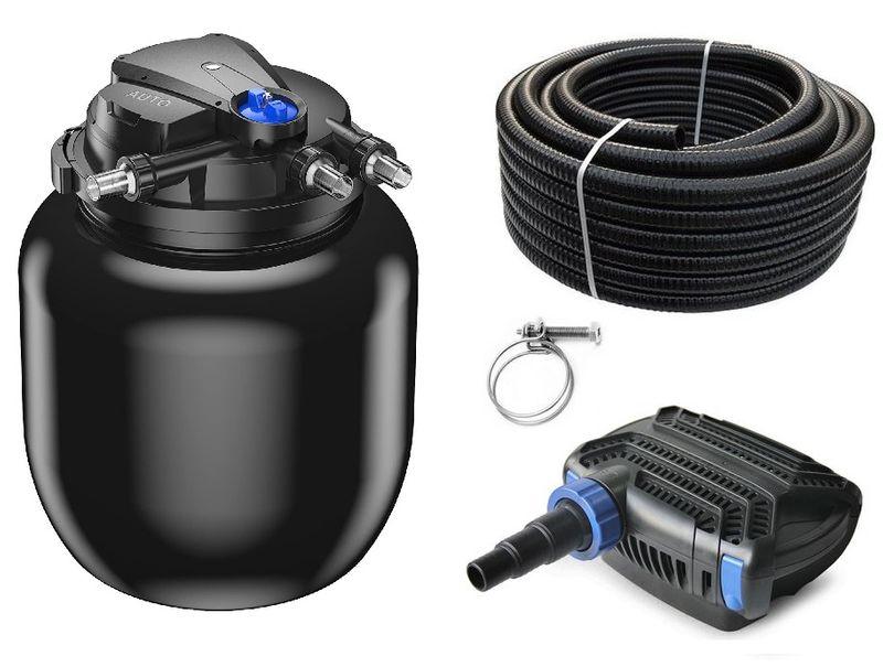 Druckteichfilter Set CPA 50000 mit 80W Eco Pumpe 10m Schlauch bis 80.000l Nr.48