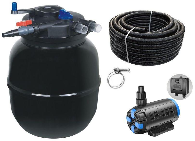 Druckteichfilter Set CPF 50000 regelbare Eco Pumpe 10m Schlauch bis 80.000l Nr.57