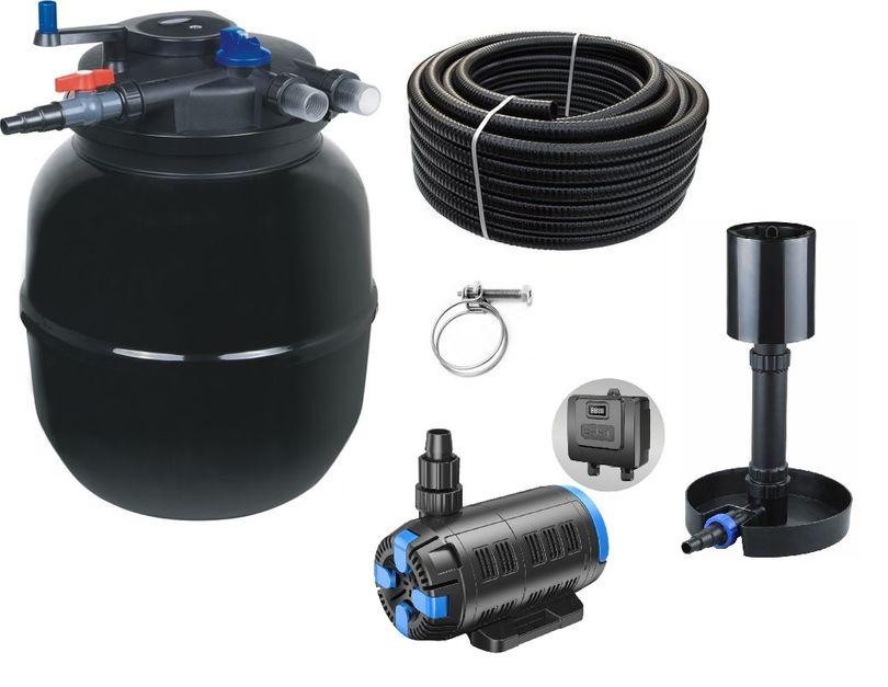 Druckteichfilter Set CPF 50000 regelbare Eco Pumpe 10m Schlauch bis 80.000l Nr.57s
