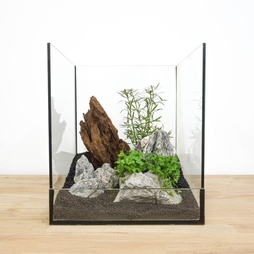 Aquarium Deko Komplettset Steine Wurzel Pflanzen Aquascaping Set Nr.6