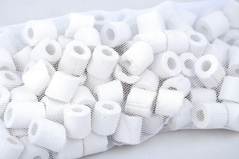 120 Keramik Ringe - Filtermaterial für alle Aquarien und Teich Filter geeignet