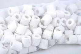 120 Keramik Ringe - Filtermaterial für alle Aquarien und Teich Filter geeignet Bild 1