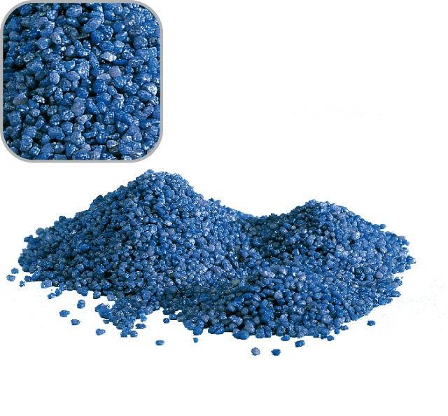 """5 Kg blauen Quarzkies """"Premium Qualität"""" 2-3 mm Bodengrund Aquarium Kies"""