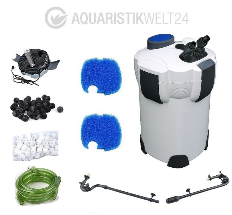 Aquaristikwelt24 Aquarium Außenfilter HW-303B 1400 L/h 3 Stufen 700l UVC