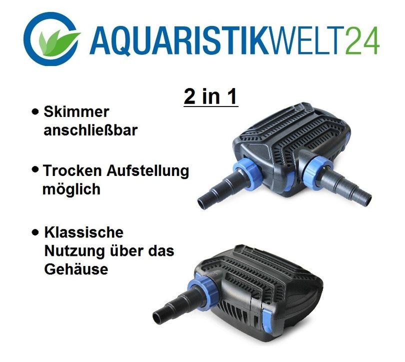 Bio Teichfilter SET CBF350,B & C +UVC Klärer +Eco Teichpumpe +Teichschlauch Bild 5