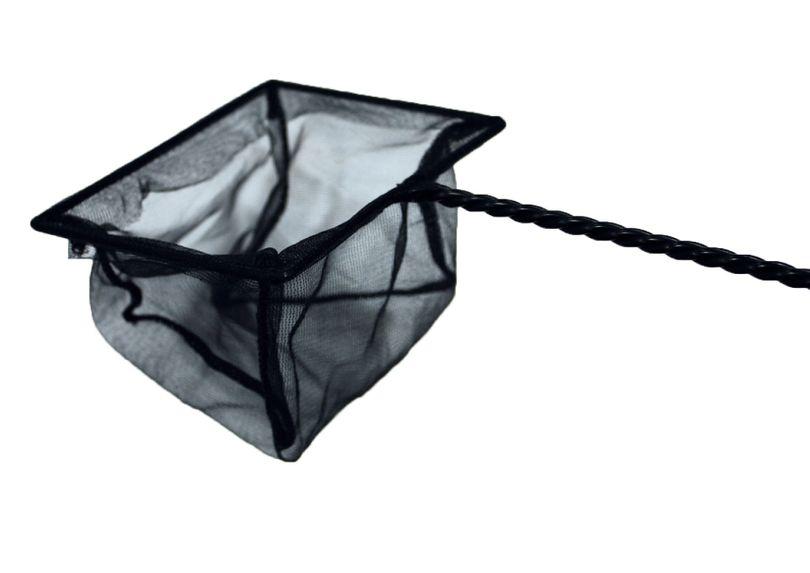 Aquarium Fangnetz Größe 12cm Kescher Fischnetz schwarz Aquariumnetz Fischkescher
