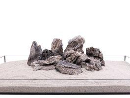 Aquarium Natursteine Mini Landschaft Seiryu Steine grau 20 Kg Gr.L 1-2 Kg Nr.68 Bild 2