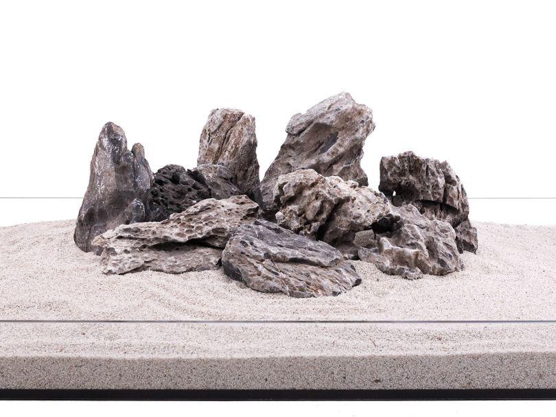 Aquarium Natursteine Mini Landschaft Seiryu Steine grau 1 Stück Gr.L 1-2Kg Nr.68