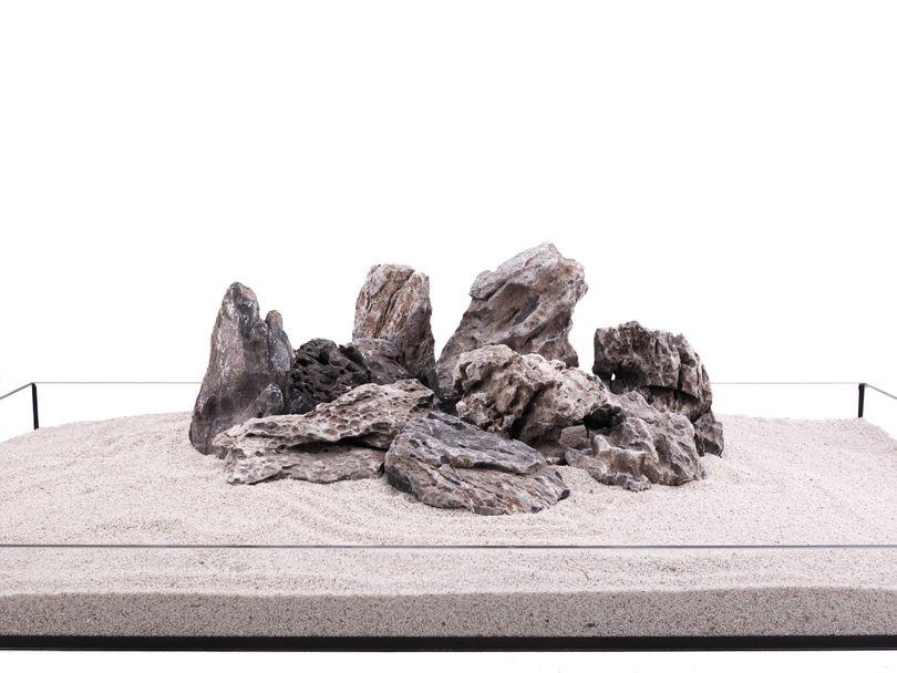 Aquarium Natursteine Mini Landschaft Seiryu Steine grau 1 Stück Gr.L 1-2Kg Nr.68 Bild 2