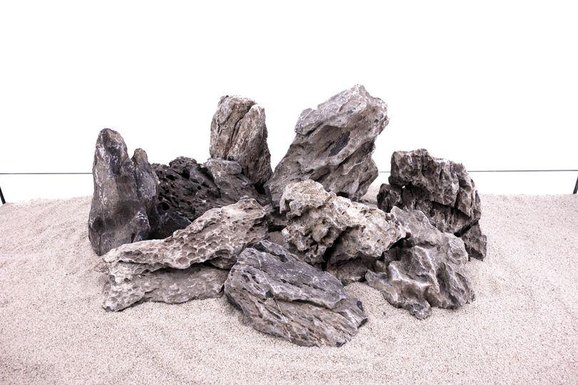 Aquarium Natursteine Mini Landschaft Seiryu Steine grau 1 Stück Gr.L 1-2Kg Nr.68 Bild 3