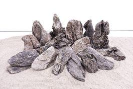 Aquarium Natursteine Mini Landschaft Seiryu Steine grau 20 Kg Gr.M 300-700g Nr.67 Bild 3